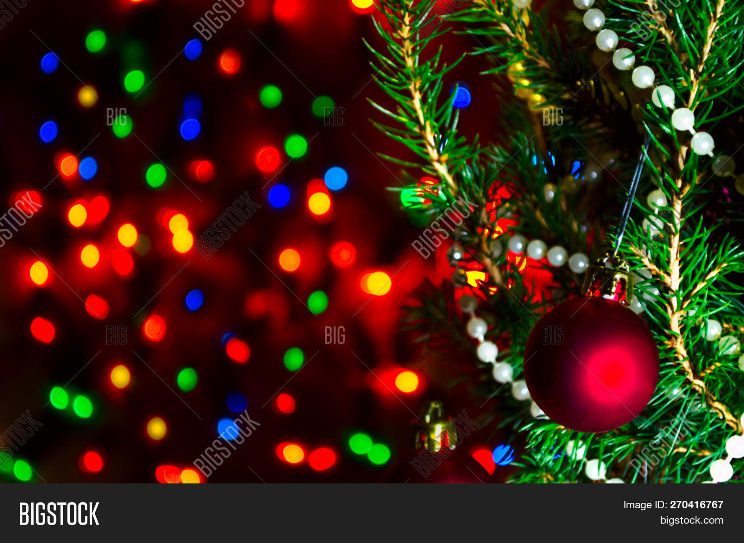 Red Christmas Ball On Image Photo Free Trial Bigstock