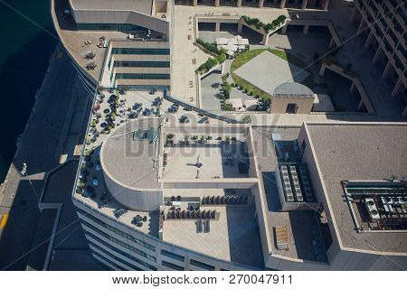 Barcelona, Spain - May 27, 2018: View Of Shopping And Entertainment Center Maremagnum, Port Vell De