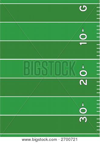 Football Field Markings Vector