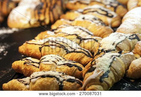 Delicious Baked Food Mix Savory Pastry