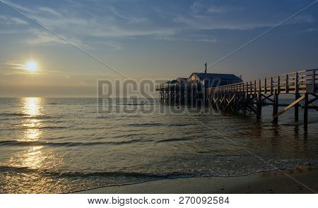 Beach Of Sankt Peter-ording At North Sea In North Frisia,schleswig-holstein,germany