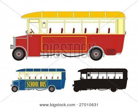 Old BUS vector illustration