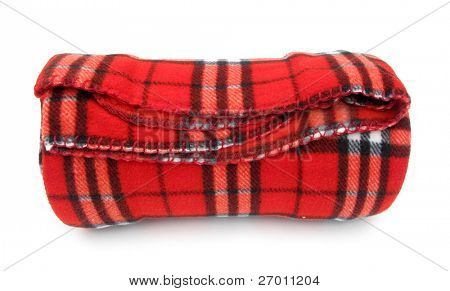 Blanket rug red