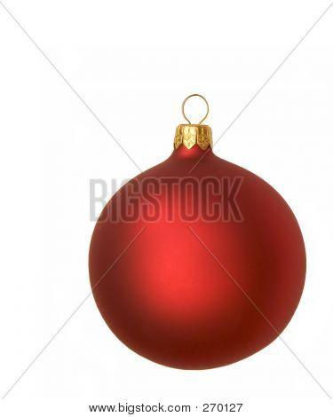 Adorno de Navidad rojo