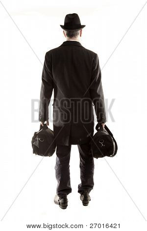 Traveler man with bags