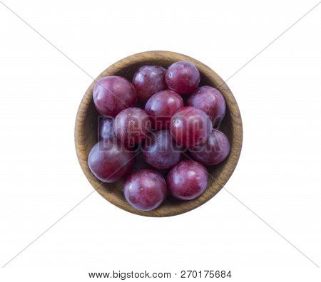 Grapes Isolated On White Background. Top View.  Bunch Of Grape Isolated On White Background. Red Gra