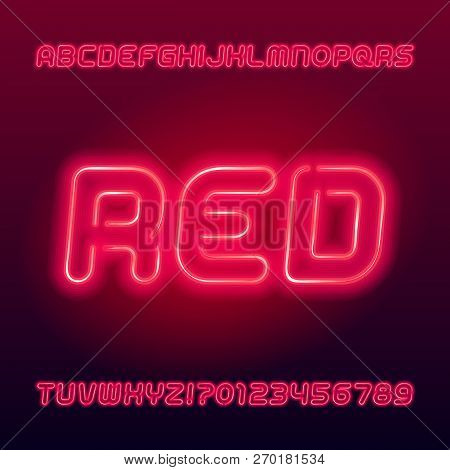 Red Neon Tube Vector & Photo (Free Trial) | Bigstock
