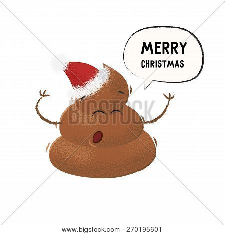 Poop Santa Hat Vector & Photo (Free Trial) | Bigstock