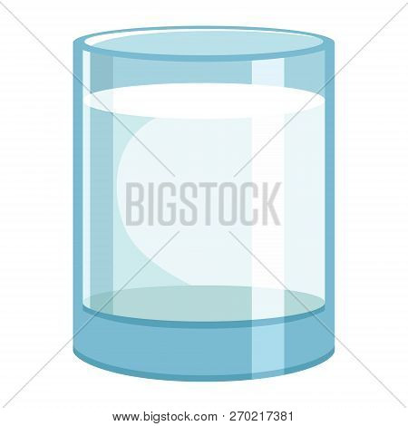 Vector Illustration Of Glass Water And Healthy