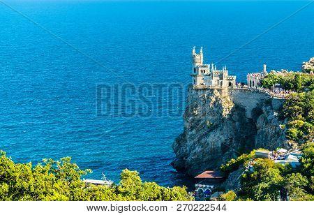 The Swallow Nest Castle Near Yalta, A Major Tourist Destination In Crimea