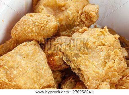 A Box Crunchy Fried Chicken, Close Up