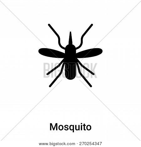 Mosquito Icon Vector Isolated On White Background, Logo Concept