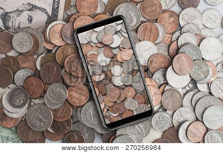American Cents On Cell Phone