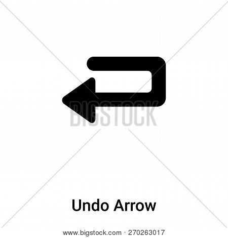 Undo Arrow icon vector isolated on white background, logo concep poster