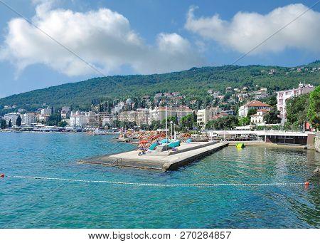 Popular Town Of Opatija At Adriatic Sea In Istria,croatia