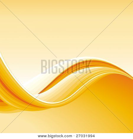 Colorful Abstract Wave Background, raster version