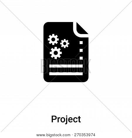 Project Icon Vector Isolated On White Background, Logo Concept O