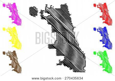 Chicago City ( United States Cities, United States Of America, Usa City) Map Vector Illustration, Sc