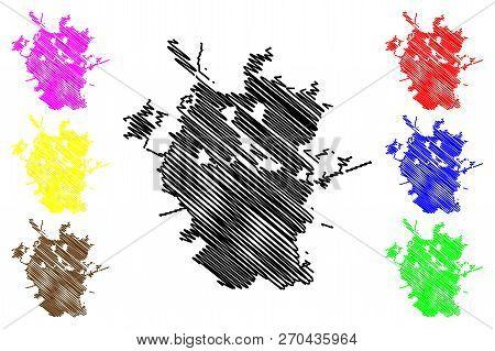 San Antonio City ( United States Cities, United States Of America, Usa City) Map Vector Illustration