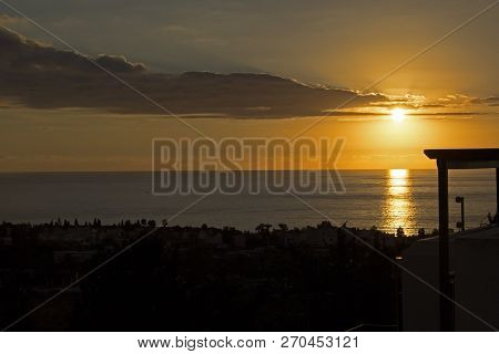 Beautiful View On Sunset On The Sea