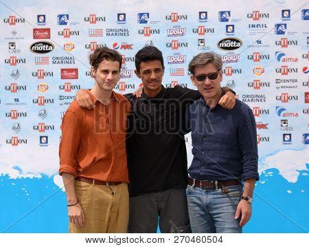 Giffoni Valle Piana, Sa, Italy - July 24, 2018 : Cosimo Terlizzi, Andrea Arcangeli And Luigi Catani