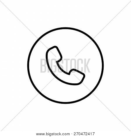 Phone Vector, Phone Icon, Phone Icon Vector In Modern Line  Flat Style For Web, Graphic And Mobile D