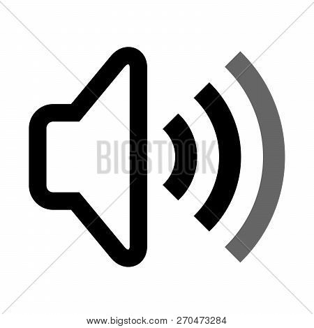 Audio Volume Icons, Audio Volume Vector Icon Flat Style Illustration For Web, Mobile, Logo, Media Ap