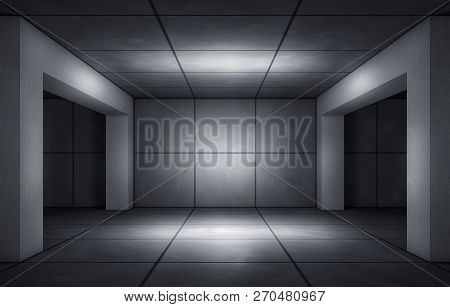 3d Rendering Of An Concrete Studio Background