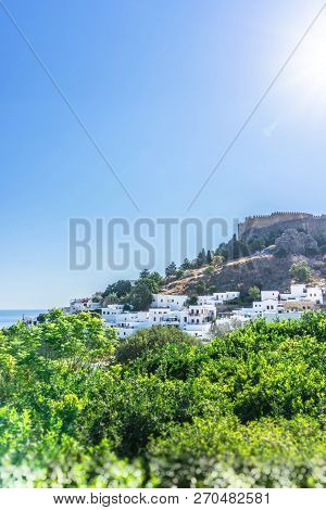Famous Lindos Town On The Rhodes Island