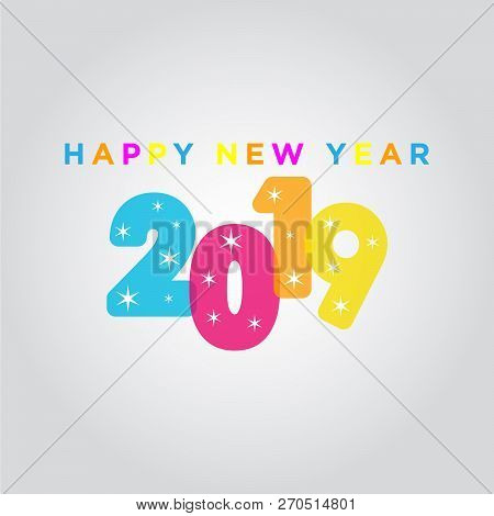 2019 On White Background, New Year 2019, 3d Illustration, Happy New Year 2019, Red 3d Numbers, New Y