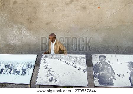 Robben Island, South Africa - December 28, 2008:  Ex Convict Who Served Prison Time On The Island Ex
