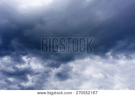 Dark Storm Clouds With Background,dark Clouds Before A Thunder-storm
