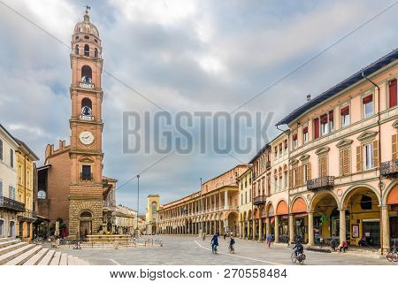 Bell Tower At The Liberty Place In Faenza - Italy