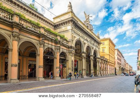 Bologna,italy - September 24,2018 - Theater Arena Del Sole In The Streets Of Bologna. Bologna Is The