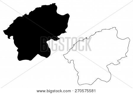 Bartin (provinces Of The Republic Of Turkey) Map Vector Illustration, Scribble Sketch Bartin Ili Map