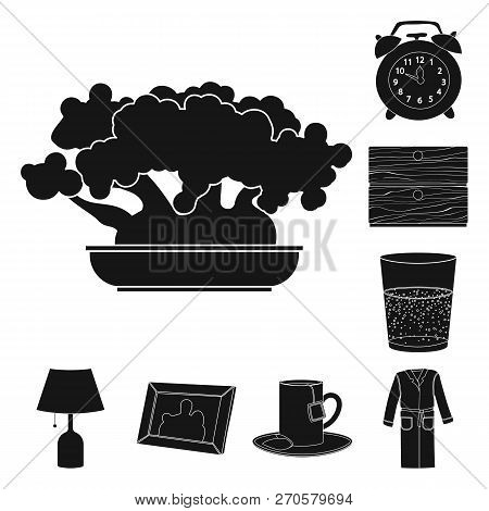 Vector Design Of Dreams And Night Logo. Collection Of Dreams And Bedroom Stock Vector Illustration.