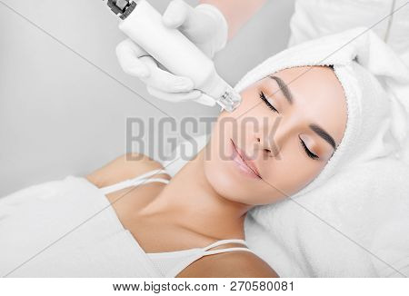 procedure renewing skin , no-needle high frequency mesotherapy poster