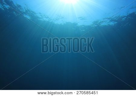 Underwater blue water background
