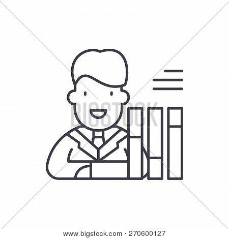 Personnel Scorecard Line Icon Concept. Personnel Scorecard Vector Linear Illustration, Symbol, Sign
