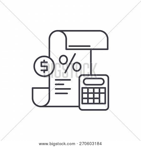 Profit And Loss Statement Line Icon Concept. Profit And Loss Statement Vector Linear Illustration, S