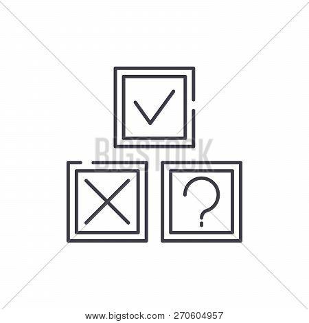 Rebus line icon concept. Rebus vector linear illustration, symbol, sign poster