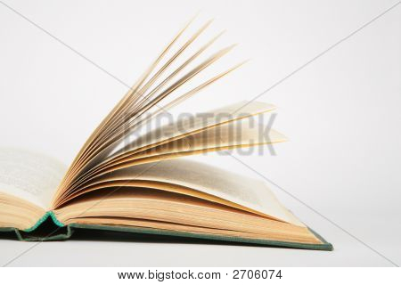 Close-Up Opening Book