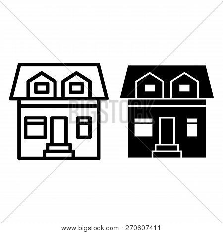 Cottage Two Mansard Vector & Photo (Free Trial) | Bigstock