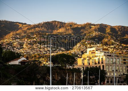 View Over The City Of Funchal, Capital City Of Madeira Island.