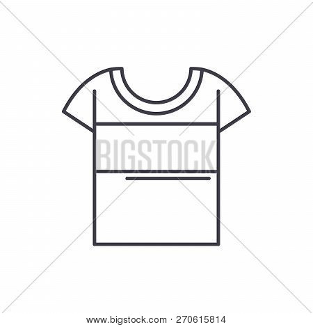 Sport T Shirt Line Icon Concept. Sport T Shirt Vector Linear Illustration, Symbol, Sign