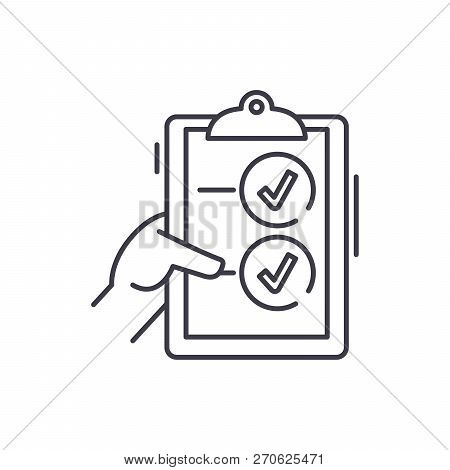 Voting Line Icon Concept. Voting Vector Linear Illustration, Symbol, Sign