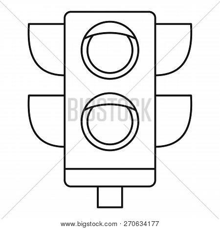 Pedestrian Semaphore Icon. Outline Pedestrian Semaphore Vector Icon For Web Design Isolated On White