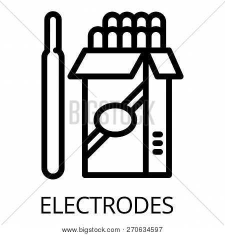 Electrode Pack Icon. Outline Electrode Pack Vector Icon For Web Design Isolated On White Background