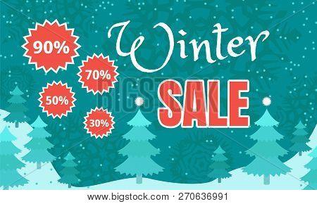 Final Winter Sale Banner. Flat Illustration Of Final Winter Sale Vector Banner For Web Design