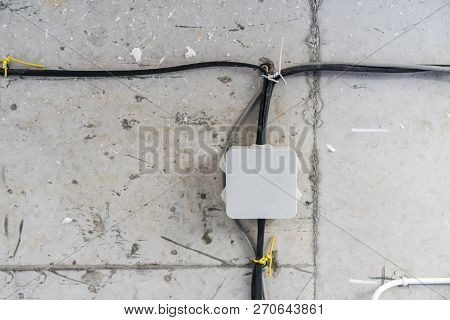 Installation Electrical Conduit Painting Identify Square Box Of Lighting(ltg), Receptacle(rct).   El